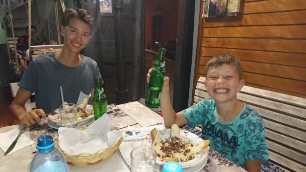 Middag på en bakgata i Valladolid