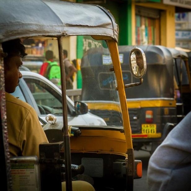 På inköp i Indien, foto: Henrik Kullberger