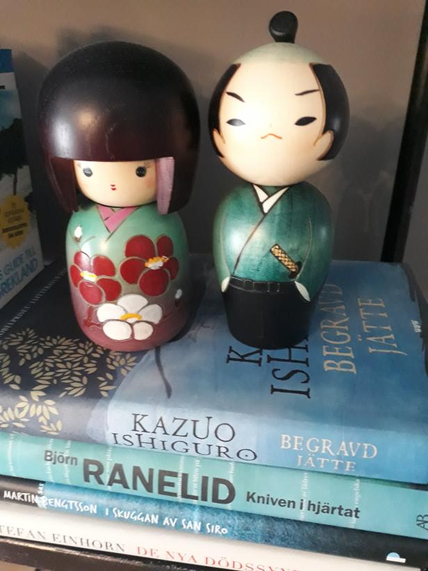 Fina Kokeshi dockor som vi köpte i Tokyo när vi var där förra året.
