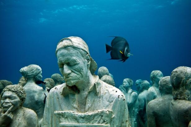 Folksamling på havets botten