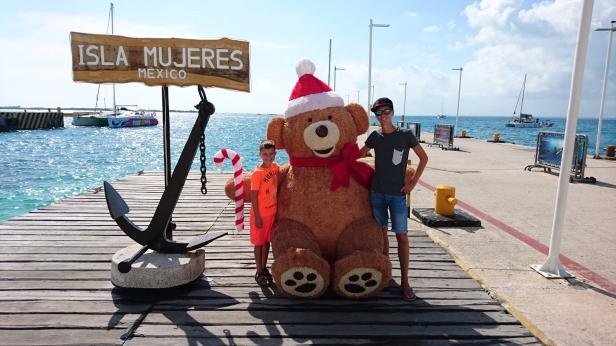 Hamnen på Isla Mujeres, Mexiko December 2016