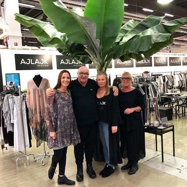 Ajlajkteamet laddade på Formex 2018, Mirjam, Tommy, Sofia och Leena.