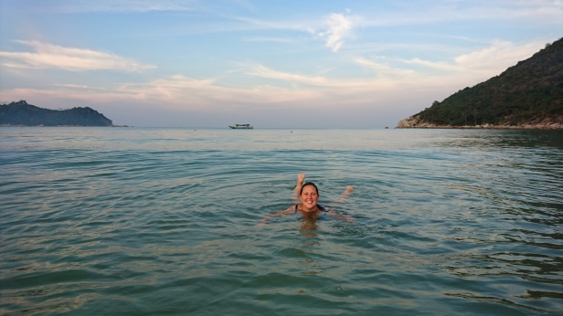 Underbara stranden Thong Nai Pan Yai på Koh Phangan, februari 2017
