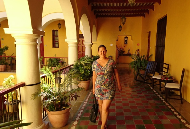 Vi bodde på en vacker hacienda i staden Champeche i Mexico, november 2016