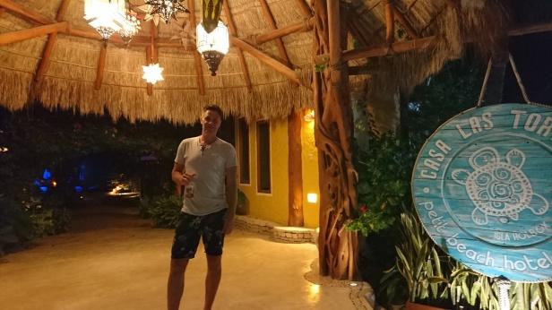 Äntligen kom vi fram till hotellet! Casa las Tortugas, ett helt underbart ställe!