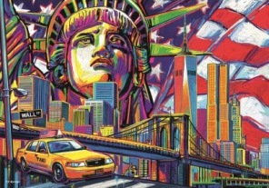 Pussel - Colours of New York -