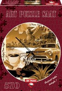 Pussel - Klocka Coffee -