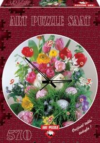 Pussel - Klocka Blommor -