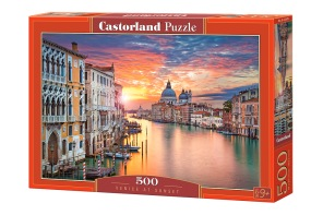 Pussel - Solnedgång i Venedig -