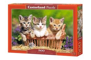 Pussel - Tre Söta Katter -