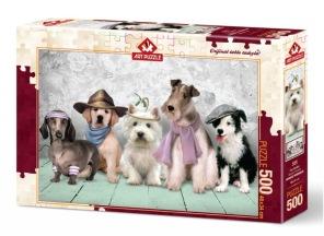 Pussel - Utklädda Hundar -