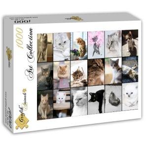 Pussel - Katt Collage -