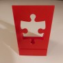 Pussel - Kartonghållare - Röd