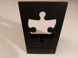 Pussel - Kartonghållare - Svart
