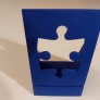 Pussel - Kartonghållare - Blå