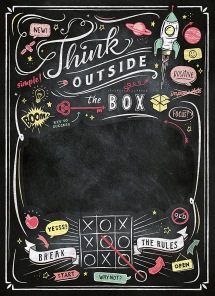 Pussel - Black Board Puzzle - Think outside the box