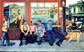 Pussel - Andys Barber Shop -