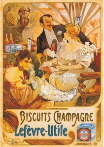 Pussel - Vintage Poster Biscuits Champagne -