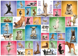 Pussel - Yoga Dogs -