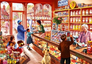 Pussel - Sweetshop -