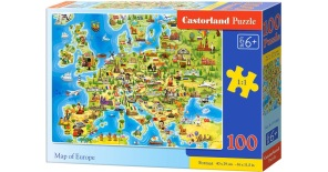 Pussel - Map of Europa -