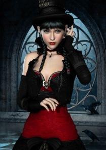 Pussel - Gothic Women -