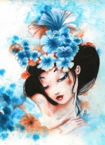 Pussel - Blue Flower -