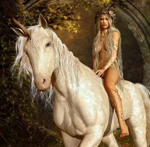 Beg. Pussel - Horse and Women -