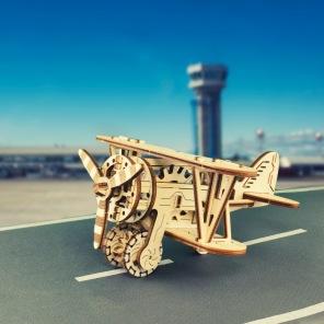 3D Trä - Flygplan -