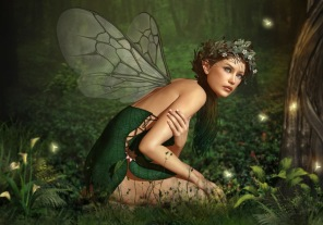 Pussel - Nymph in the Forest -