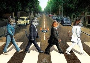 Pussel - Cat Road -