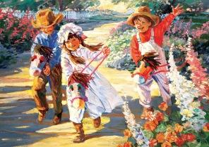 Pussel - Glada Barn -