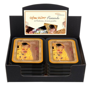 Gustav Klimt - Ask med 12 vykort -