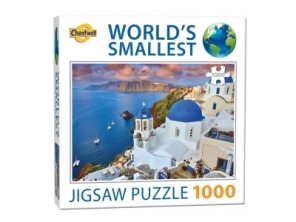 World Smallest Puzzle - Santorini Grekland -