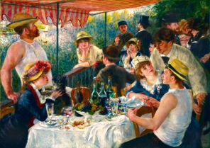 Konst Pussel - Renoir Luncheon of the Boating Party -