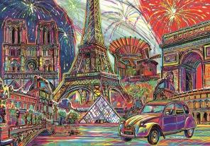Pussel - Colours of Paris -