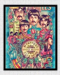 Diamantmålning - Beatles - 30 x 40 cm