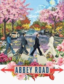 Diamantmålning - Abby Road - 30 x 40 cm