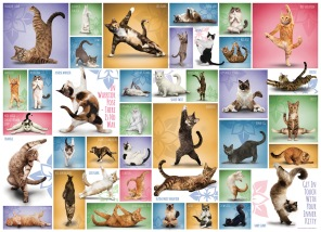 Pussel - Yoga Cats -