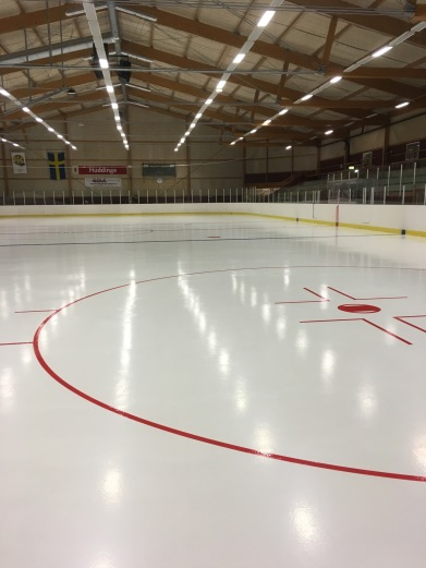 Visätra Ice rink, Huddinge, after our renovation of the ice rink.