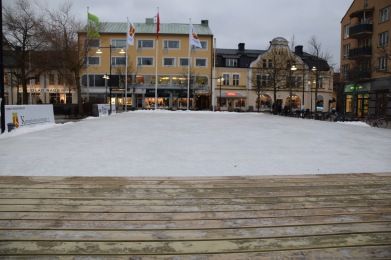 Chilled mobile city square ice rink, 15x30 m, in Katrineholm