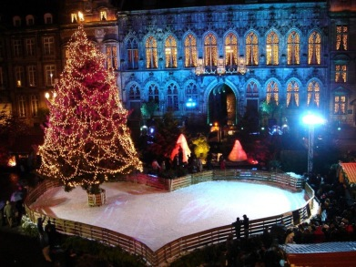 Heart shaped ice rink at a Xmas market, delivered by AST