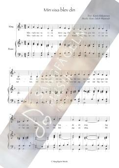 Min visa blev din (sång & piano)  D-moll - Min visa blev din (sång & piano, C-moll)