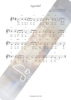 Syrentid (melodi & ackord) D-dur - Syrentid (melodi & ackord) D-dur