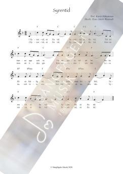 Syrentid (melodi & ackord) F-dur - Syrentid (melodi & ackord) F-dur
