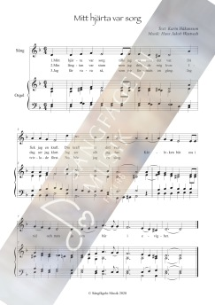 Mitt hjärta var sorg (solosång & orgel) - Mitt hjärta var sorg (solosång & piano)