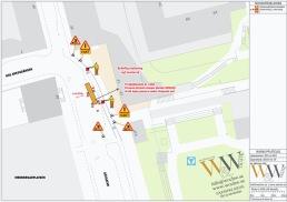 Uppställning av skylift på Medborgarplatsen