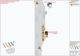 TA-plan för liten schakt på busshållplats med TMA skydd där bussarna kan angöra hållplatsen
