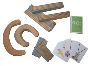 Bygg ord, namn och bokstäver med Clickos stora byggbox