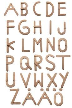 ABC-plansch träbokstäver - ABC-plansch träbokstäver